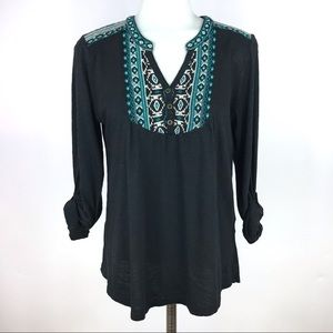 Lucky Brand XS Embroidered Top